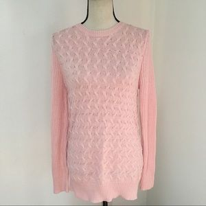 Laura Scott Baby Pink Cable Knit Sweater M